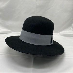 Silence + Noise 100% Wool wide brimmed hat, Black